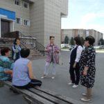 На территории рабочего поселка Линево работала депутат районного Совета депутатов Шаманаева Людмила Ивановна